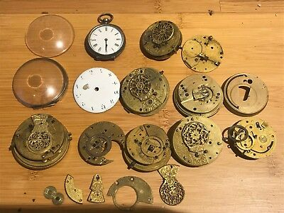 ANTIQUE POCKET WATCH MOVEMENTS FUSEE CHAIN INC.VERGE FUSEE REPEATER c1785
