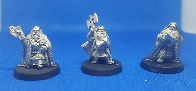 Games workshop - lord of the rings - dwarf kings x 3  (c77)