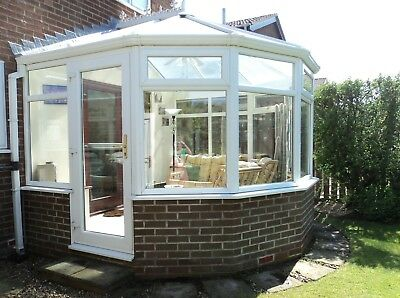 Double glazed white upvc conservatory - TO BE DISMANTLED AND COLLECTED BY BUYER