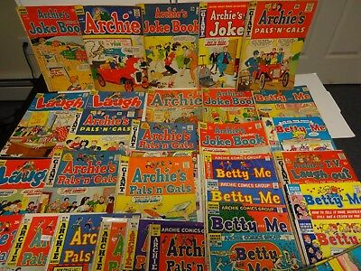 Lot Of 43 Archie Comics Mostly 1960-'s-70's Great Set Look No Reserve See Others