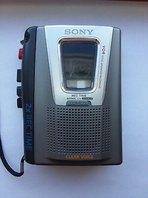 Sony Clear Voice Activated VOR Handheld Cassette-Corder TCM-20DV Tape Recorder