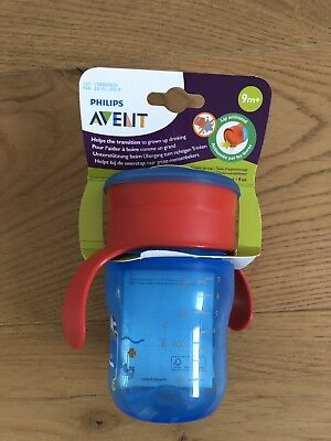 Neu in OVP Philips Avent Trinklernbecher SCF782/15 260 ml blau Wal 12 Monate