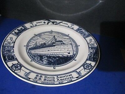 SS NORTH SOUTH AMERICAN CRUISE SHIP PLATE Kettlesprings Alliance Ohio X6 PA