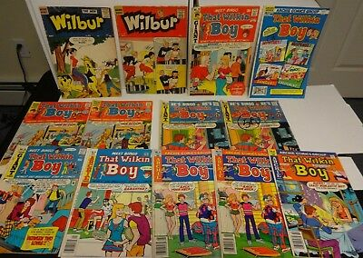 Lot Of 13 Wilbur And That Wilkins Boy Archie Comics 1950's And Up Katy Keene App