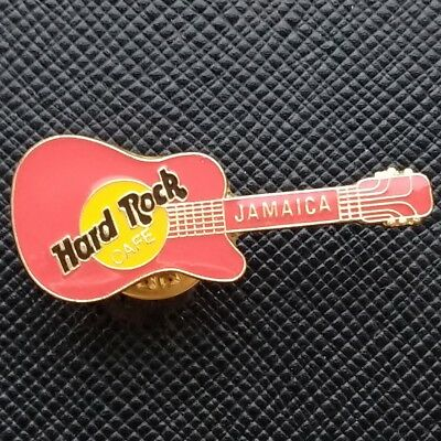 JAMAICA 🇯🇲 Hard Rock Cafe® HRC PIN - PINK/RED CLASSIC GUITAR with YELLOW LOGO