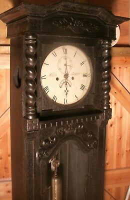 "Antique Carved Oak Case  "" Exeter  ""  Longcase / Grandfather  Clock"