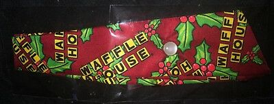 Wow Brand New Red Green Yellow & Black Waffle House Neck Tie