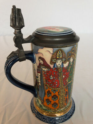 Mettlach Villeroy & Boch - Russian Fairy Tales - The Red Knight - Beer Stein