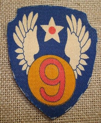 WW2 9th USAAF ARMY AIR FORCE PATCH  PRINTED