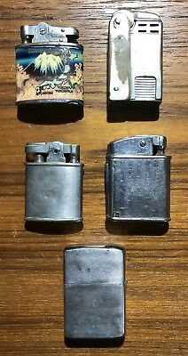 Lot of 5 Vintage Lighters *Zippo, Lighter Brothers, Ronson Others