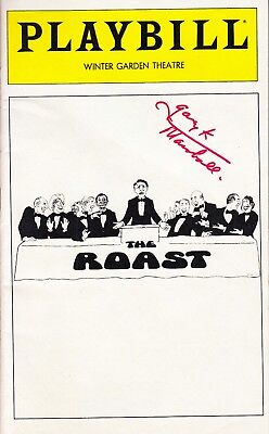 "GARRY MARSHALL.Writer Producer Happy Days, Pretty Woman. Signed PLAYBILL ""ROAST"""