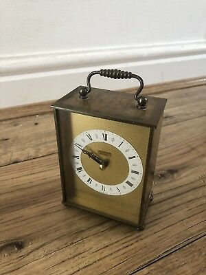 JUNGHANS  Vintage Mantel Clock. Made in Germany. Working. Brass Quartz Ato Mat