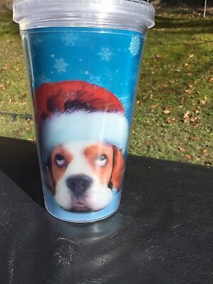 New Basset Hound Christmas Tumbler & Straw Naughty & Nice...Cute!