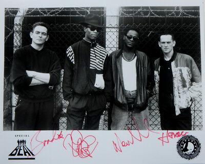 """Ranking Roger SPECIAL BEAT Signed Promo 8"""" X 10"""" Ska Dance Rock Publicity Photo"""