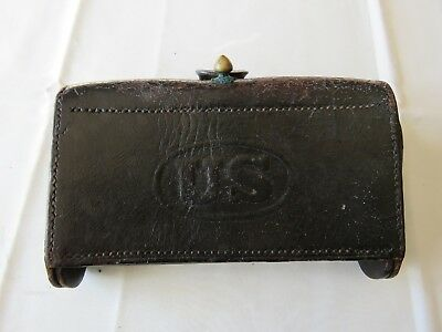 Old Indian Wars Ammo Pouch McKeever Cartridge Box US Army ID'ed