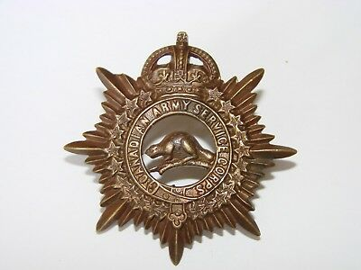 Canada WW1 CEF Cap Badge The Canadian Army Service Corps