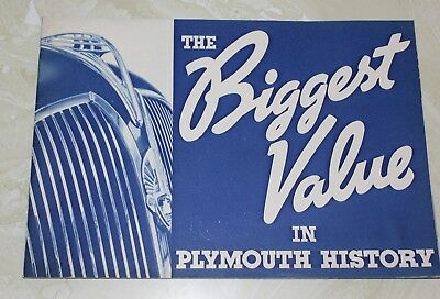 1937 Plymouth Deluxe Brochure, THE BIGGEST VALUE IN PLYMOUTH HISTORY