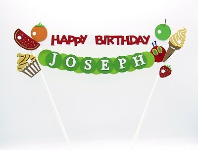 Personalised Cake Topper - The Hungry Caterpillar - Birthday Cake Decoration