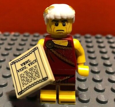 "New Genuine LEGO Roman Emperor with /""Veni Vidi Vici/"" Tile Series 9 71000"