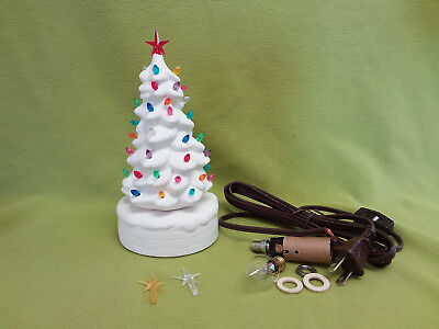 Small lighted Christmas Tree-ceramic bisque ready to paint