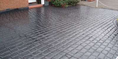Imprinted Concrete Coloured Driveway Sealer Paint Pattern