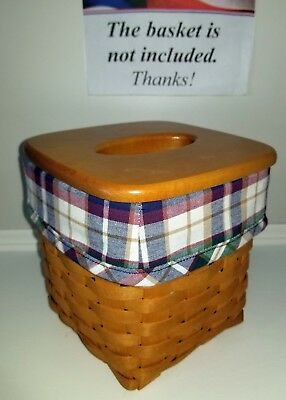 Tall Tissue Basket Liner from Longaberger Woven Traditions Plaid fabric!