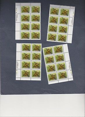 CANADA #1156i  Mammals Porcupine 1988 set of 4 x six stamps, MNH (Coated)