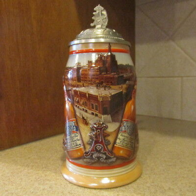 NIB ANHEUSER-BUSCH Collectors Club 'GOLDEN AGE OF BREWING' 1999 Membership Stein