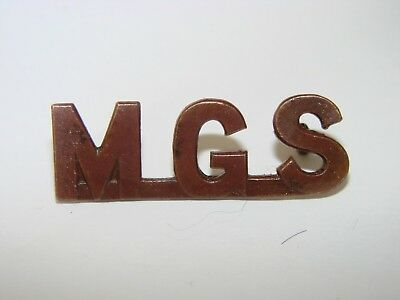 Canada WW1 CEF Shoulder Title Badge The Machine Gun Sections (within each Bn)