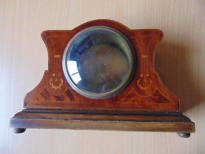 Lovely Quality Inlaid Wooden Mantle Empty Clock Case