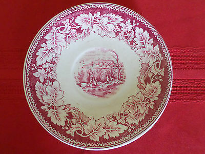 Vintage Homer Laughlin Currier and Ives Prints View of New York Saucer Plate