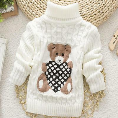 Sweater Pullover Clothes Outwear Girls Turtleneck Knit Baby High Quality Hot