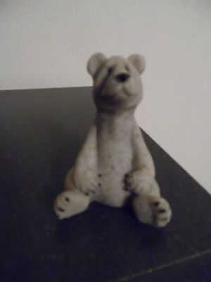 "QUARRY CRITTERS ""BOO"" bear Second Nature Design 2 1/2"" tall figurine EUC"