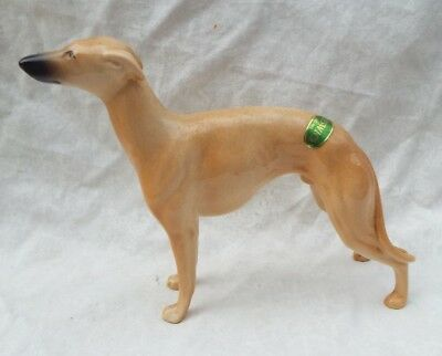 Rare BESWICK WHIPPET WINGED FOOT MARKSMAN Dog Figurine Model 1786B Orig Sticker