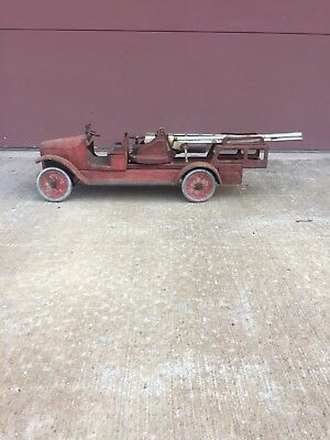 1930s Vintage Large Metal Fire Truck