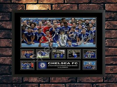 Chelsea Fc 2015 Epl Winners Signed Limited Edition Autograph Memorabilia Print