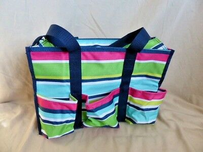Thirty One Tall Organizing Tote Preppy Pop New 2395 Picclick