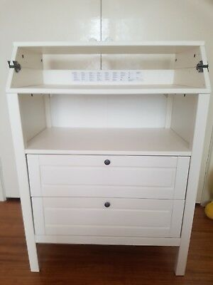 Baby Nursery Change Table with Chest of Drawers