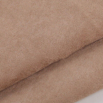 Fabric Faux Cushion Plain Dress Craft Top Quality Suedette Material Dressmake