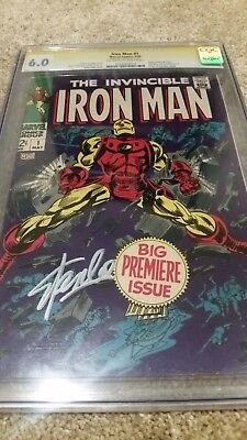 Iron Man #1 CGC 6.0 SS Signed By Stan Lee (May 1968, Marvel) ****