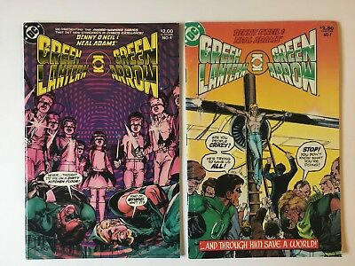 Green Lantern and Green Arrow  #4 & 7 Comic Book Lot of two - DC Comics