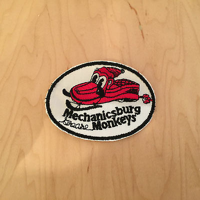 snowmobile PATCH, MECHANICSBURG GREASE MONKEYS ,60's, new old stock