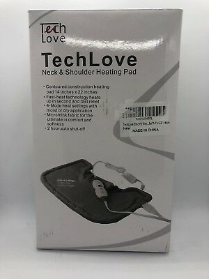 Tech Love Electric Heating Pad for Neck Shoulder , blue, 14x22