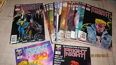 Lot of 19 NOW Comics Fright Night 1st Issue 2 Specials 3D Glasses 2 4 7 9-14 16