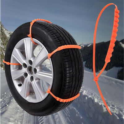 10Pcs Anti-skid Chains for Car Winter Snow Mud Wheel Tyre Thickened Tire Tendon.