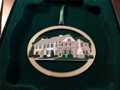 NIB Gregory Harber Eisenhower's House Christmas Ornament with stand and papers