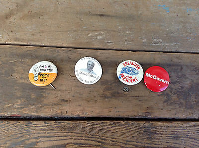 Mixed Lot of 4 Political Pins