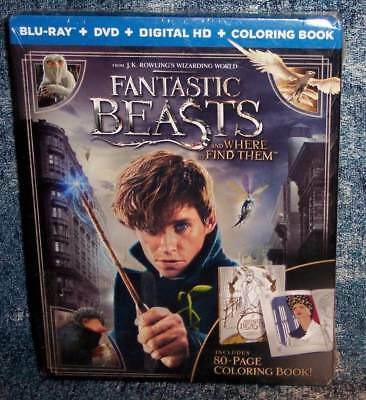 New Walmart Exclusive Fantastic Beasts Where Find Blu Ray Dvd Coloring Book 2016