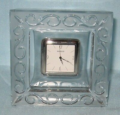 Waterford Marquis Arabesque Desk Clock Mark New Stickers Germany