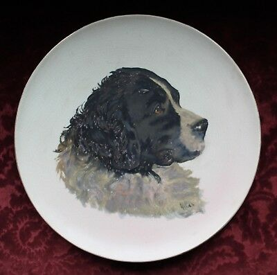 Large Antique Decorative Newfoundland Landseer Dog Plate